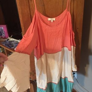 Umgee Off the shoulder with straps dress